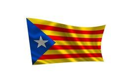 Flag of Catalonia. Royalty Free Stock Photography