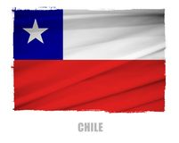 National flag of chile Royalty Free Stock Photos