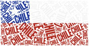 National flag of Chile. Word cloud illustration. Stock Photography