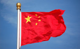 National flag of China Stock Photo