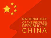 National flag china day concept background, flat style. National flag china day concept background. Flat illustration of national flag china day vector concept Vector Illustration