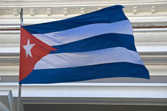 National flag, Cienfuegos, Cuba Royalty Free Stock Photos