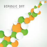 National flag color paper circle for Indian Republic Day celebra Stock Photo