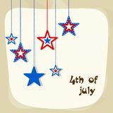 National Flag colors hanging stars for 4th of July. National Flag colors hanging stars for 4th of July, American Independence Day celebration vector illustration