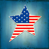 National flag colors star for American Independence Day. Royalty Free Stock Images