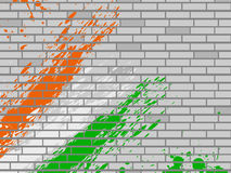 National flag colors theme on wall background. Stock Photography