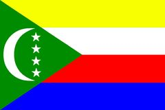 National flag of Comoros Stock Image