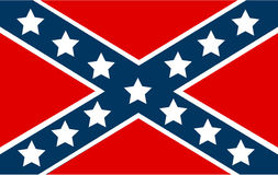 National flag of the Confederate States of America Stock Photos
