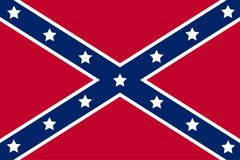 National flag of the Confederate States of America. Vector Royalty Free Stock Photos