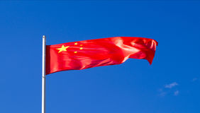 The national flag of the country China stock photos