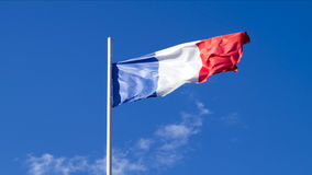 The national flag of the country of France Stock Photography