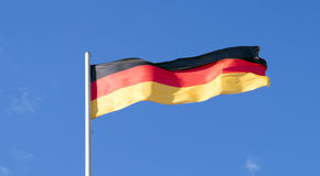 The national flag of the country of Germany royalty free stock photography