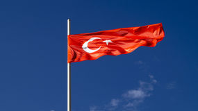 The national flag of the country Turkey Stock Photo