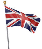 National flag for country of United Kingdom isolated on white background, 3D rendering Stock Image