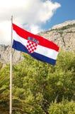National flag of Croatia Stock Photography