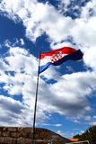 National flag of Croatia Stock Images