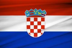 National flag of croatia Royalty Free Stock Image