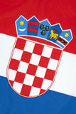 National Flag of Croatia Stock Photos
