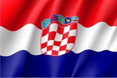 National flag of Croatia republic. Stock Image