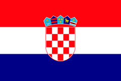 National flag of Croatia republic. Stock Image