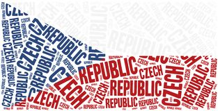 National flag of Czech Republic. Word cloud illustration. Stock Photo