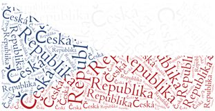 National flag of Czech Republic. Word cloud illustration. Royalty Free Stock Photos