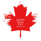 National Flag Day of Canada greeting card. Maple leaf on white background. Stock Photography
