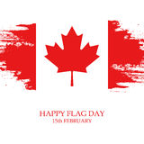National Flag Day of Canada greeting card. Stock Image