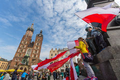 National Flag Day of the Republic of Poland (by the Act of 20 Feb 2004) celebrated between the holidays Royalty Free Stock Image