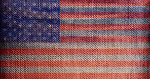 National flag on denim texture: USA Royalty Free Stock Images