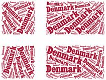 National flag of Denmark Royalty Free Stock Images