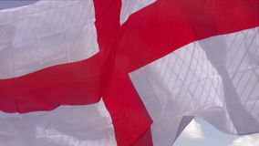 National flag of England. Flag of England - St Georges cross waving in the wind stock video footage