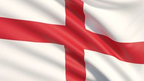 The national flag of England. stock photo