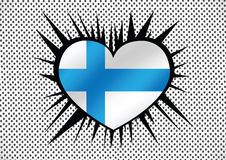 National flag of Finland Stock Images