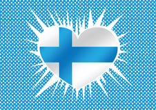 National flag of Finland. Themes idea design Royalty Free Stock Images