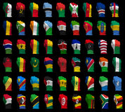 National flag fists of Africa Royalty Free Stock Photography