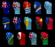 National flag fists of Oceania Royalty Free Stock Image
