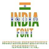 National Flag Font Stock Photos