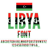 National Flag Font Stock Photo