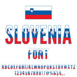 National Flag Font Stock Images