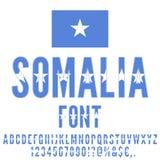 National Flag Font Royalty Free Stock Image