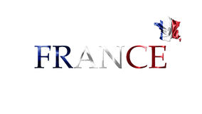 National Flag Of France Waving in the Wind With French Map And C Stock Images