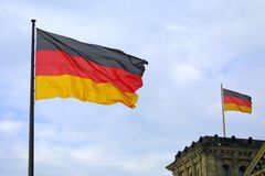 National flag of Germany stock image