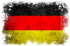 National flag of Germany. On grunge concrete background Stock Photography