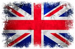 National flag of Great Britain. On grunge concrete background Stock Image