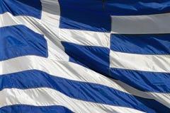National flag of Greece. THESSALONIKI, GREECE - JUNE , 25 : National flag of Greece on June 25, 2012 in Thessaloniki, Greece Royalty Free Stock Photography