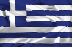 National flag of greece Stock Images