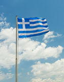 National flag of Greece country Royalty Free Stock Photo