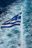 National flag of Greece Stock Photos