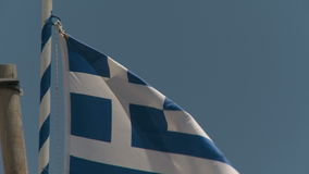 National Flag of Greece stock video